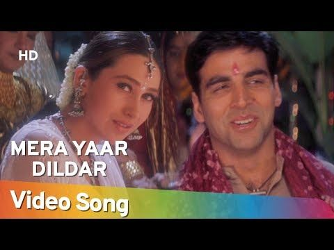 Mera Yaar Dildar Bada Sona Jaanwar Akshay Kumar Karisma Kapoor Sukhwinder Singh Gold Songs Youtube Karisma Kapoor Akshay Kumar Badai