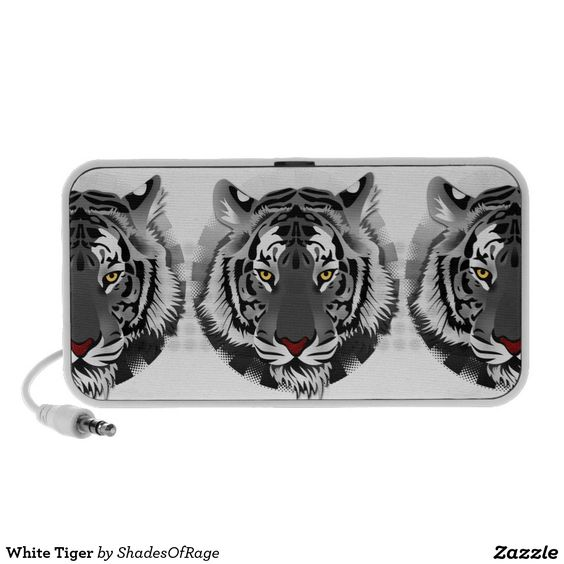 Speakers. #whitetiger #tiger #wildcats #tigers #zazzle #customize #customise #speakers