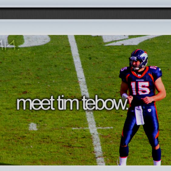 Tim Tebow is such an inspiration!