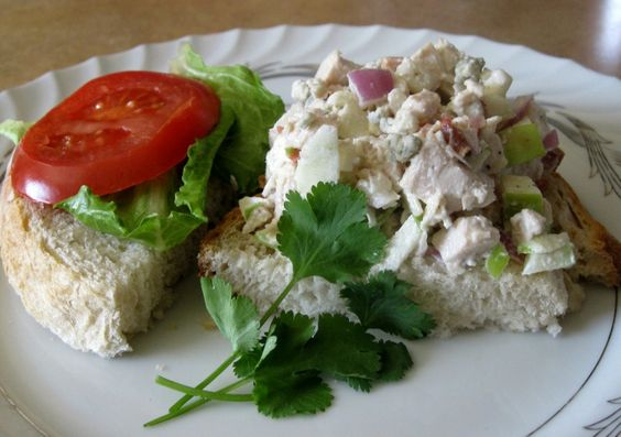 Chicken salad with apples, Chicken salads and Blue cheese on Pinterest