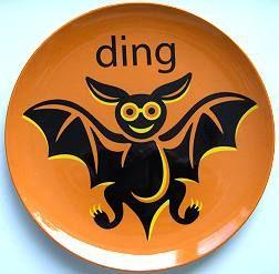 Prato estampado com morcego