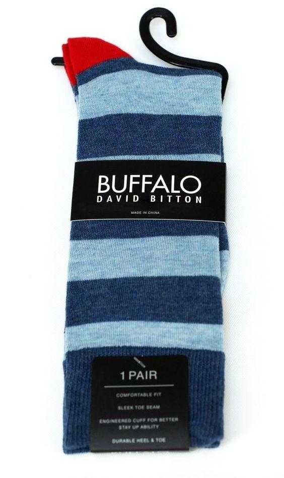 Buffalo David Britton Blue Americana Hipster Stripe Socks - $18 Retail - New #BuffaloDavidBitton #Dress