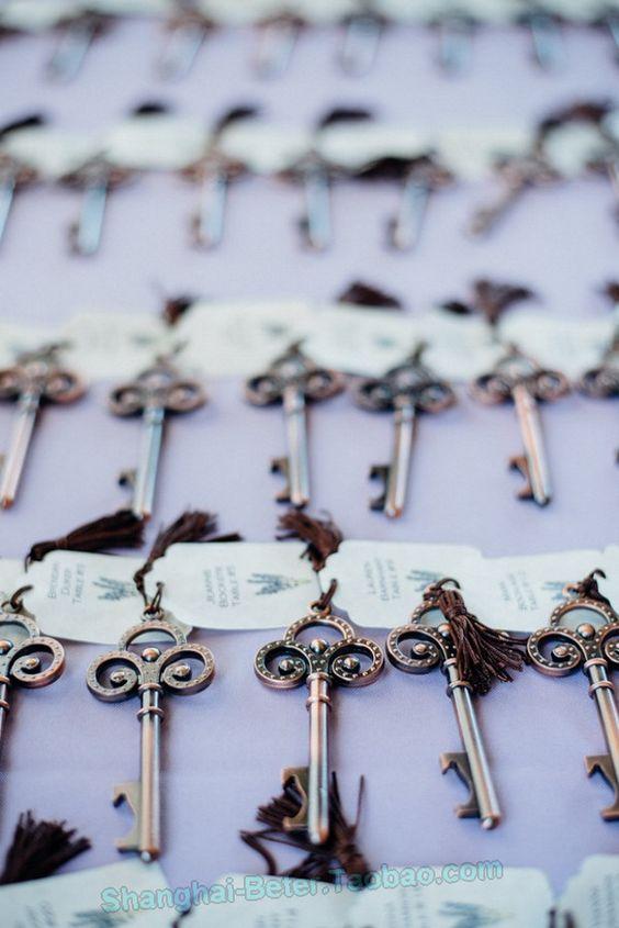 http://sea.taobao.com/item/533021308398.htm Vintage Skeleton Key Bottle Opener Wedding Bomboniere