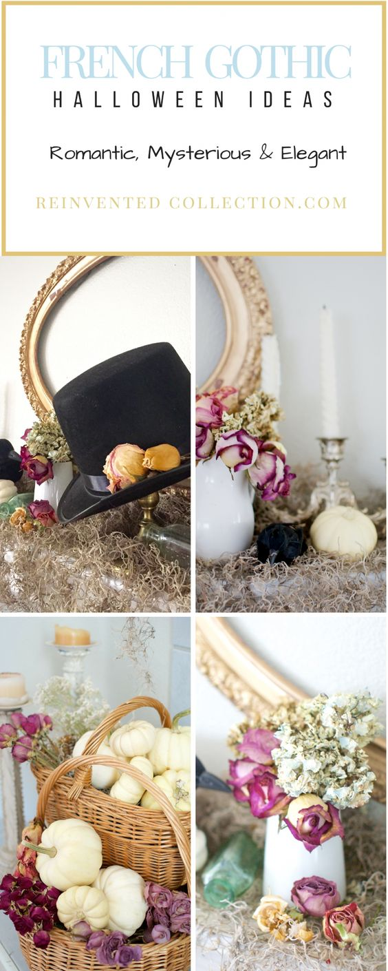 halloween decor ideas with a romantic goth look and still french country