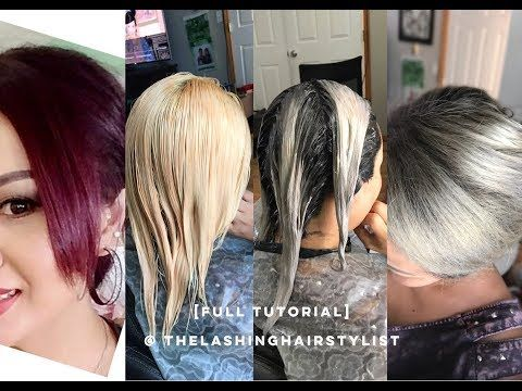 Full Tutorial How To Bleach Red Hair To Root Shadow Color Melt