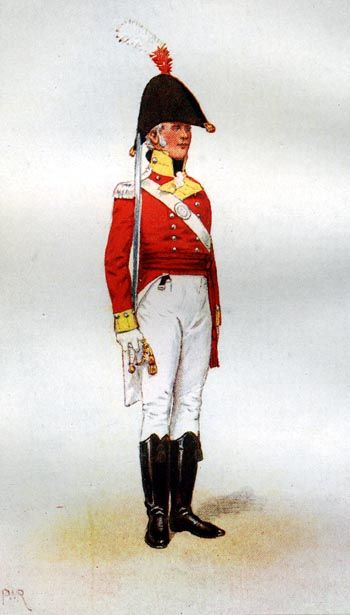 30th Regiment of Foot (Cambridgeshire) OFICIAL DE COMPAÑIA DE LINEA - 1.806. Más en www.elgrancapitan.org/foro