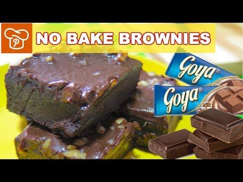 How To Make No Bake Brownies Using Non Stick Pan Pinoy Easy