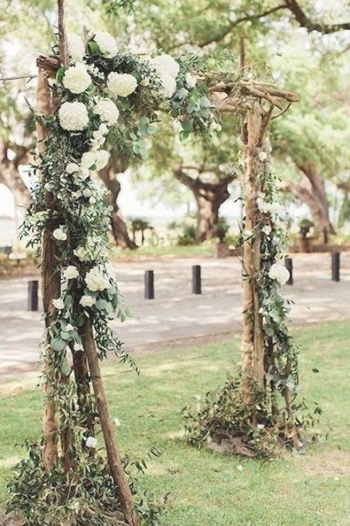 Floral Rustic Wedding Arch Ideas For Garden Weddings In 2020 Wedding Arbor Rustic Wedding Arbors Wedding Ceremony Arch