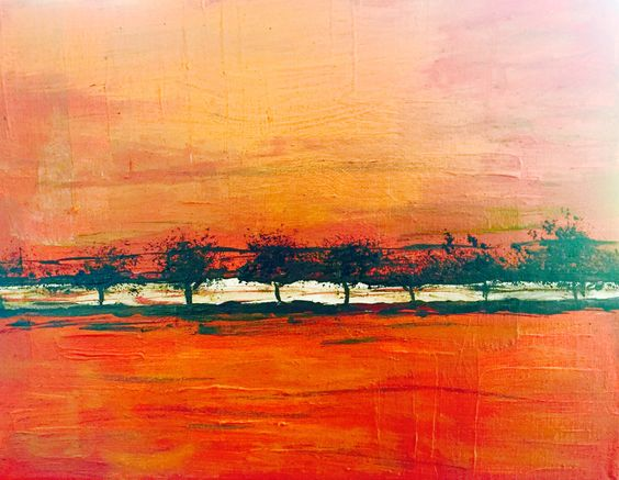 Along the Highway 2016 By red-integrate Acrylic on canvas