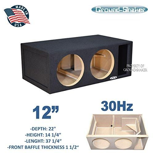 12 Dual Competition Ported Sub Box Ct Sounds Sub Box Subwoofer Box Port