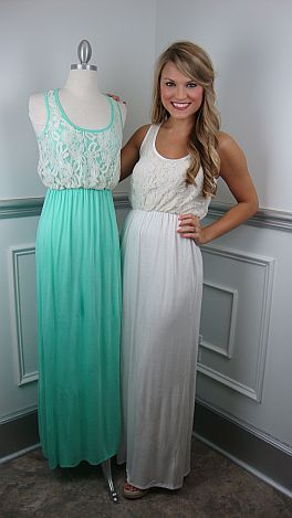 Lace Maxi...this boutique has adorable clothes!!!