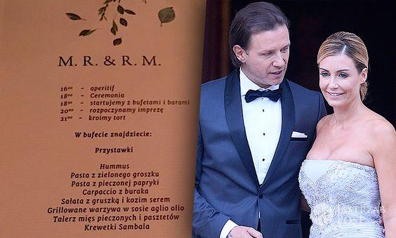 Menu na ślubie Rozenek i Majdana