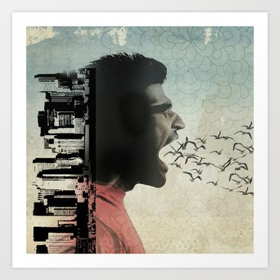 the sound of birds Art Print by vin zzep - $18.00