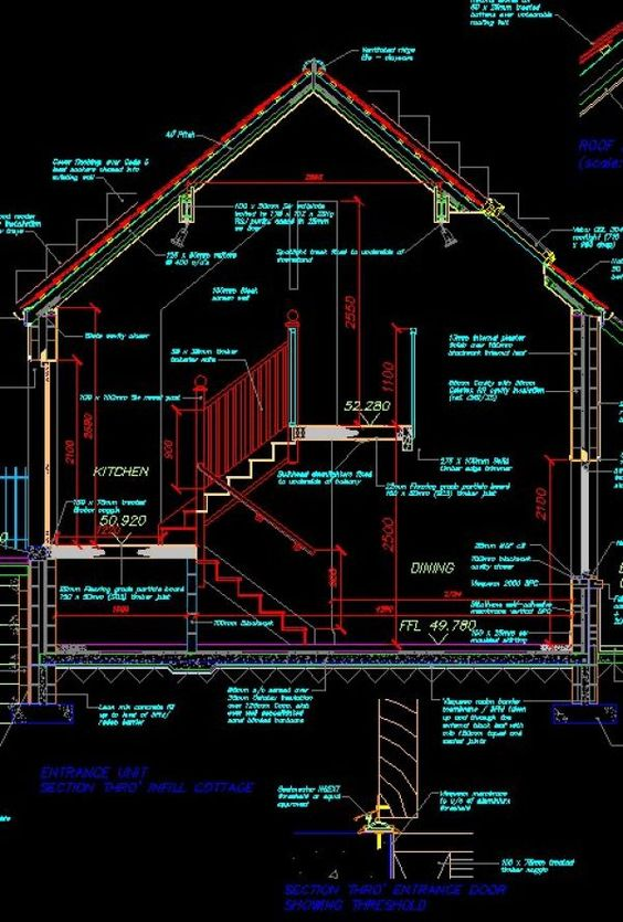 House Section Cad Library Autocad Blocks Autocad