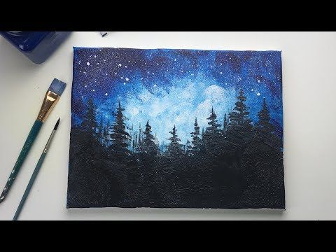 Easy Acrylic Painting For Beginners With A Balloon Simple Galaxy