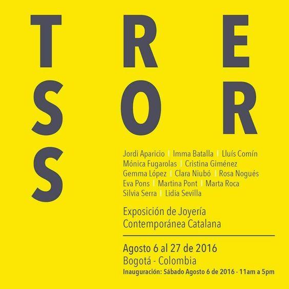 TRESORS Exposició de Joieria Contemporània Catalana a Bogotà
