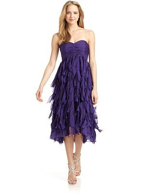 Badgley Mischka Silk Flutter Dress