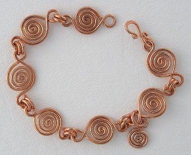 BJChristian Designs - Marble Bracelet - wire, sterling silver, gold, copper, gemstone jewelry