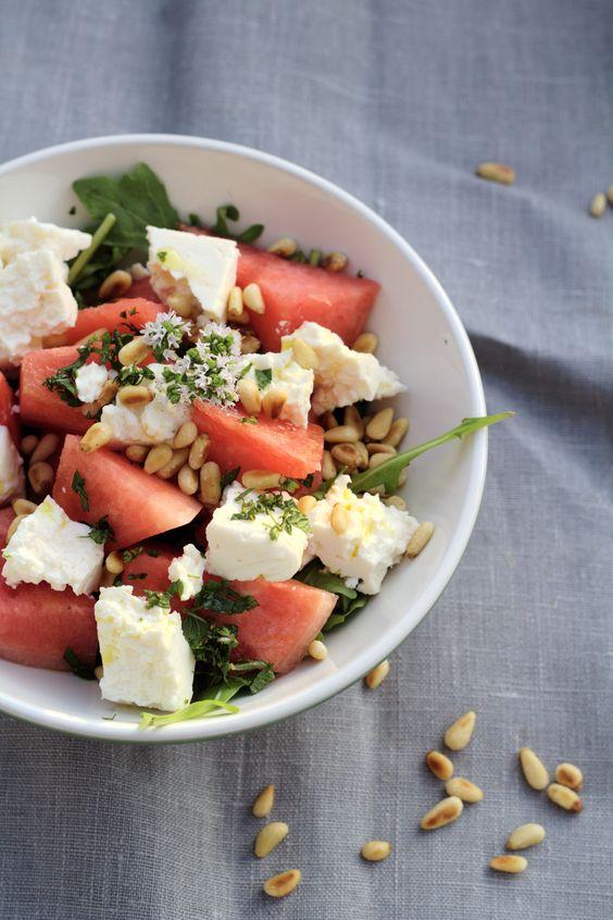 Summertime: Wassermelonen-Feta-Salat