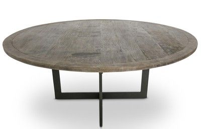 """Lucca Antiques - Tables: Lucca Studio Antioch Dining Table Custom top ?  48"""" dia"""