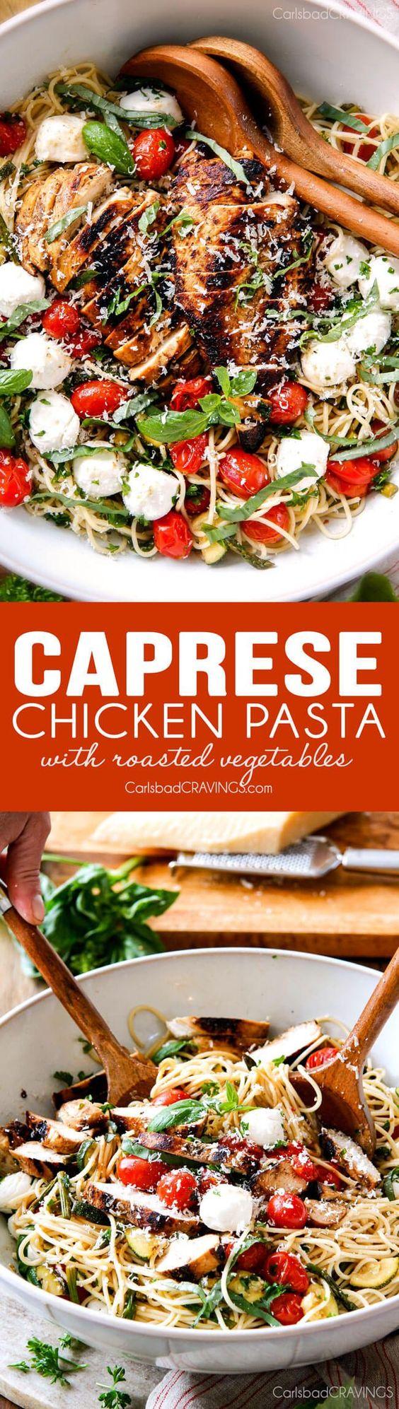... Roasted Vegetables | Recipe | Caprese Chicken, Chicken Pasta and Pasta