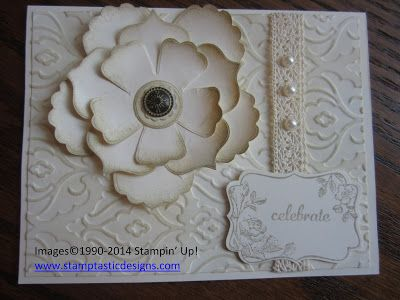 Like the inking on the flower.  Could use on top of a package.