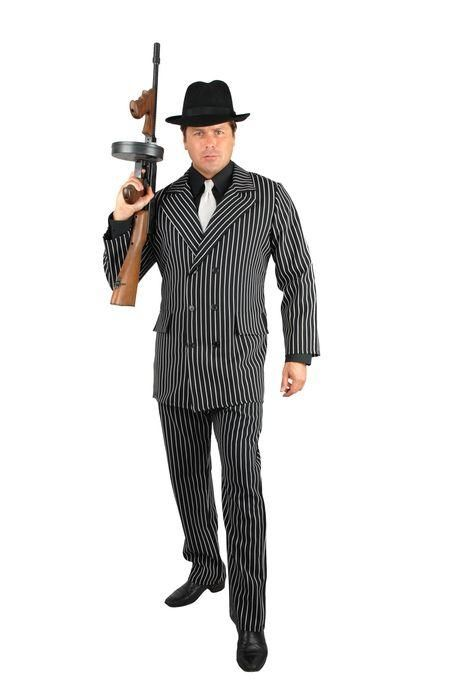 gangster full men 39 s outfit for roaring 20 39 s great gatsby. Black Bedroom Furniture Sets. Home Design Ideas