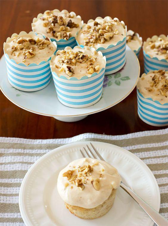 Banana Cupcakes from Annie Sageer - @ciaochowbambina   @recipetin