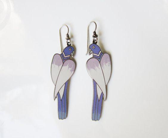 Vintage Dangle Earrings Signed Cezanne by by CornerHouseAntiques