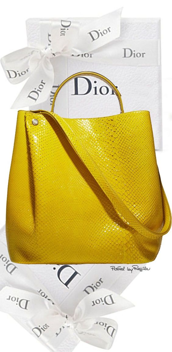 Dior does yellow beautifully.