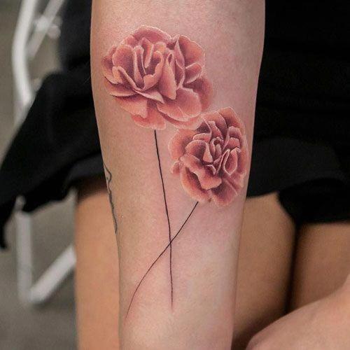 Carnation Tattoo Best Flower Tattoos Cute Beautiful Flower Tattoo Designs Pretty Rose Carnation Carnation Tattoo Carnation Flower Tattoo Flower Tattoo