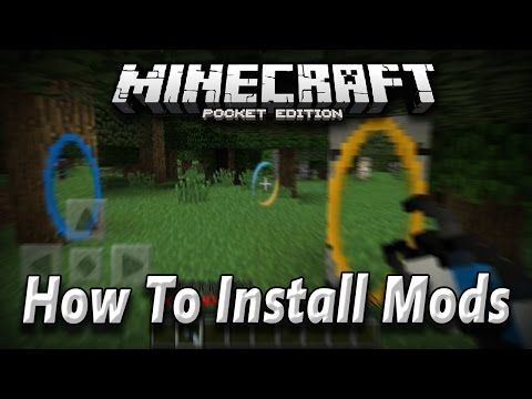 How to istall minecraft pe mods Youtube