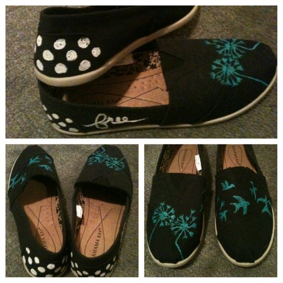 painted canvas shoes made by me and those i
