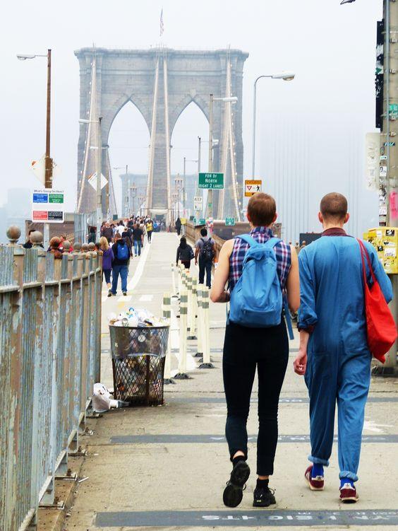 Brooklyn Bridge, NYC. Street Style. October 2013