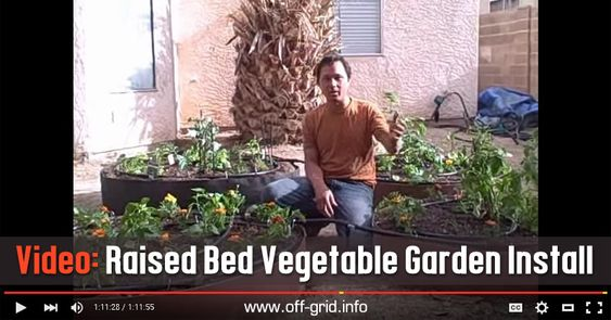 Video: Raised Bed Vegetable Garden Install ►► http://off-grid.info/blog/video-raised-bed-vegetable-garden-install/?i=p