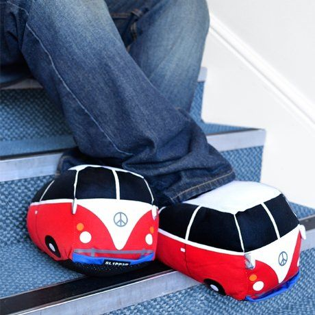 Campervan Slippers- great funny gift for the man who loves travelling. Get them for your dad, brother, uncle, grandad or even partner :)