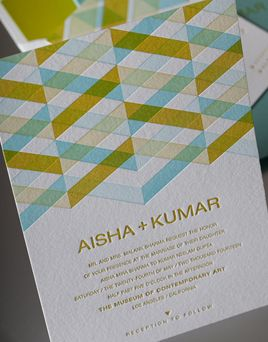 Affordable Letterpress Wedding Invitations Synthesis