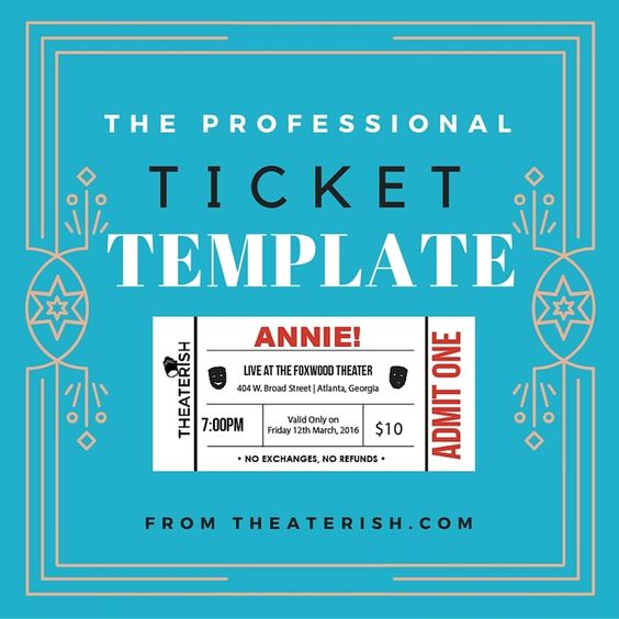 The Professional Ticket Template Ticket template, Template and - event tickets template