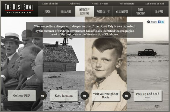 Free Technology for Teachers: An Interactive Story About the Dust Bowl  (Great while reading The Grapes of Wrath)
