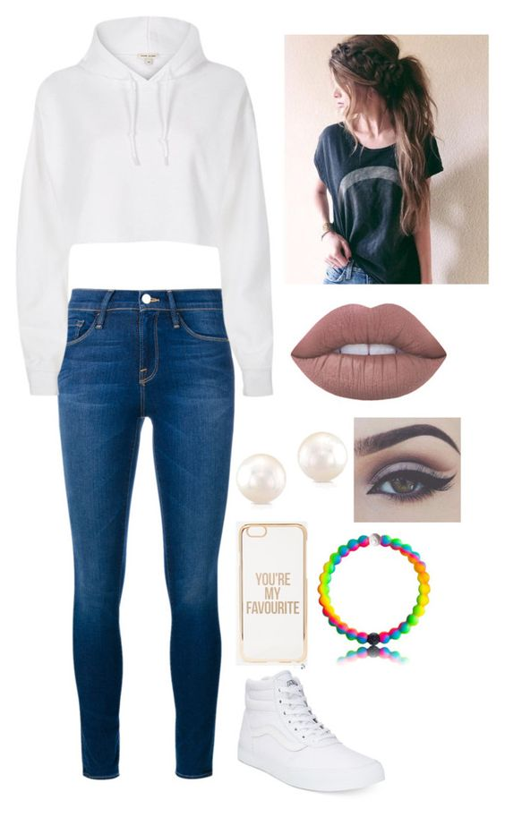 """""""You're My Favourite"""" by awesomel4125 on Polyvore featuring Frame Denim, River Island, Vans, ASOS, Bellezza and Lime Crime"""