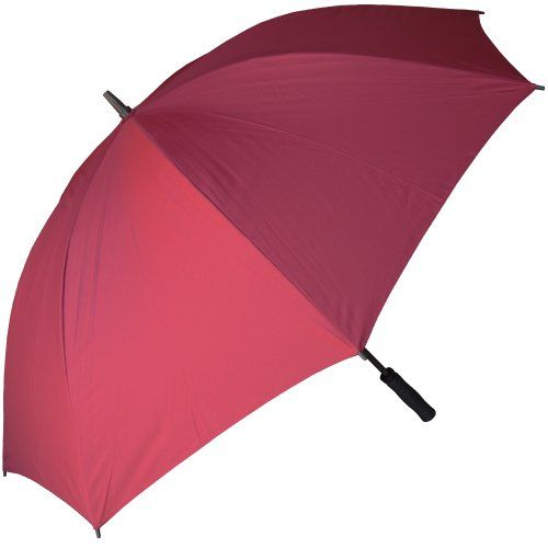 Rainstoppers Golf Umbrella With Foam Rubber Handle Burgundy 60inch You Can Get Additional Details At The Image Link T Golf Umbrella Umbrella Rain Umbrella
