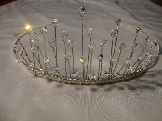 Handmade wedding tiara with swarovski crystals: