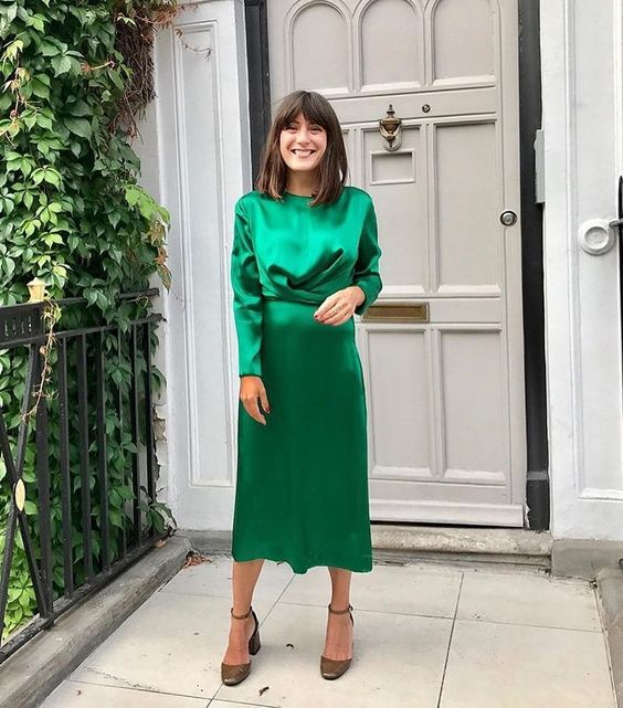 A bright green holiday dress!