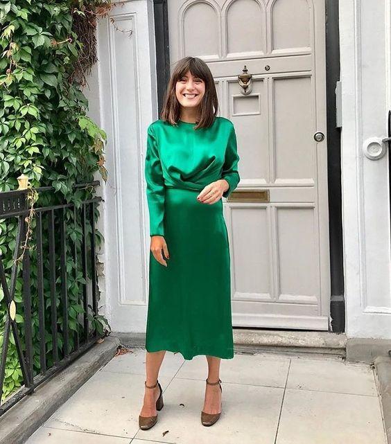 A bright green holiday dress!
