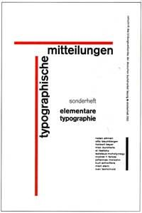 """Jan Tschichold Cover for """"Elementare Typographie""""  (1925) http://www.csun.edu/~pjd77408/DrD/Art461/LecturesAll/Lectures/lecture07/NewTypography.html"""