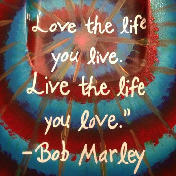 Love Quotes About Life: Bob Marley Quote - Painted Cooler