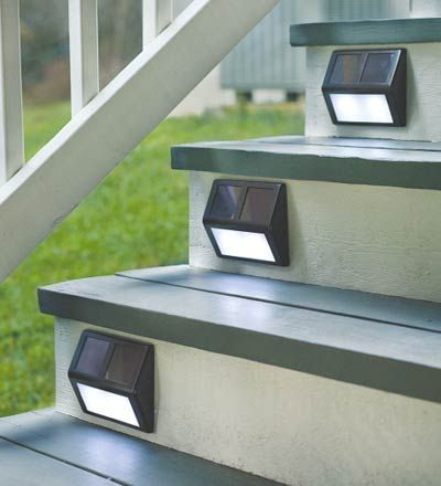 solar step lights decked out deck patio fence