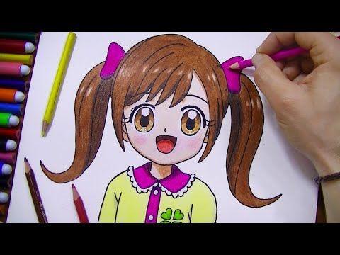 رسم سهل رسم وجه فتاة سهل جدا رسم بنات كيوت بسهولة رسومات سهلة تعليم الرسم Youtube Anime Art Cartoon Copic Coloring