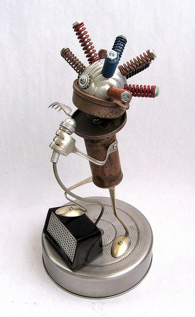 Gamon - Found Object Robot Assemblage Sculpture by Brian Marshall | Flickr - Photo Sharing!
