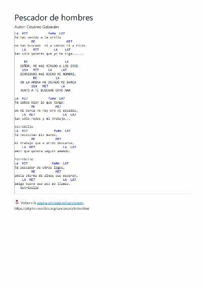 Pescador De Hombres Letra Y Acordes Letras Y Acordes Letras De Canciones Cristianas Canciones Catolicas Letras
